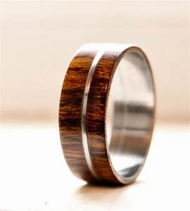 mens wedding band wood w metal inlay wedding ring staghead With wood and metal wedding rings