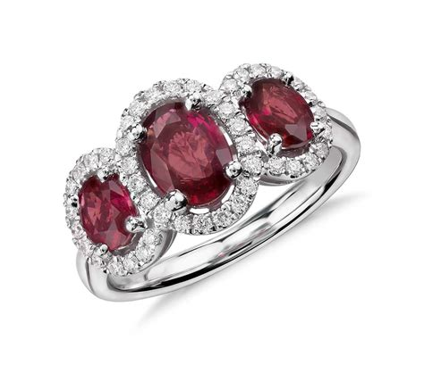 ruby oval cut rings wedding promise