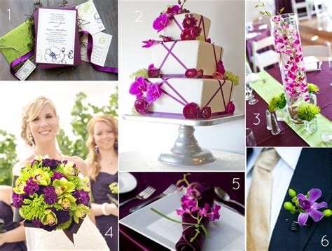 wedding theme purple and green orchid wedding theme ideas in purple and green color palette