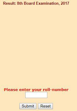 rajasthan board 8th class result 2018 name roll number wise