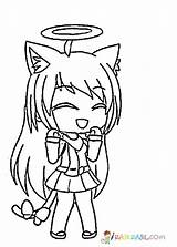 Gacha Coloring Pages Printable Raskrasil Anime Characters Kawaii Drawings Unique Laughing Dibujos Angel Easy Wolf Character Down Para Adult sketch template