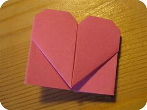 Herz Aus Papier Basteln : origami herz lesezeichen caromite ~ Lizthompson.info Haus und Dekorationen