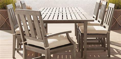 restoration hardware teak outdoor furniture