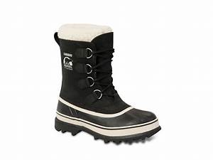 Sorel Womens Caribou Snow Boots in Black | Lyst