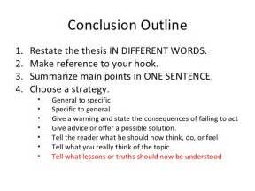 how do you write a conclusion for an essay