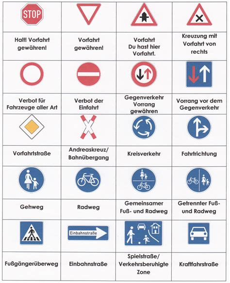 Verkehrsregeln Quiz verkehrssignale quiz verkehrssignale