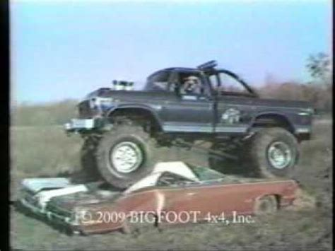 first bigfoot monster truck bigfoot 174 bob chandler first monster truck car crush ever