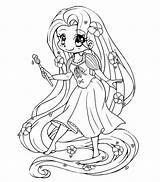 Rapunzel Pages Tangled Coloring Printable Princess Disney Colors sketch template