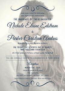 1000 images about lds wedding invitations on pinterest With lds photo wedding invitations