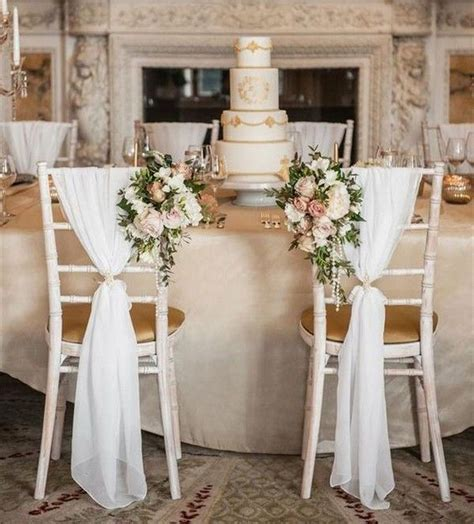 20 Elegant Wedding Chair Decoration Ideas With Fabric And