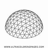 Geodesic Dome Coloring sketch template