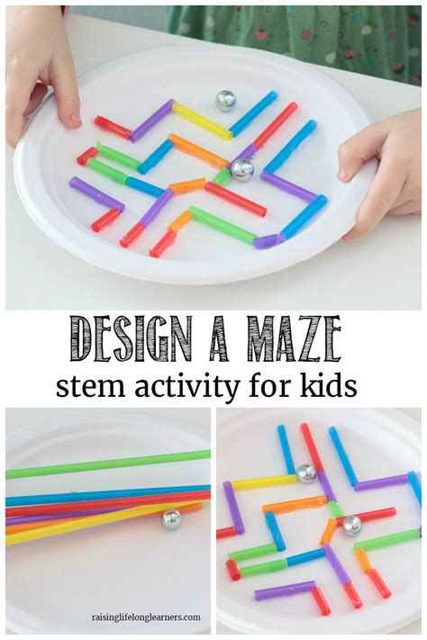 Learning Activities for Kids Paper Plate Craft: Maze STEM