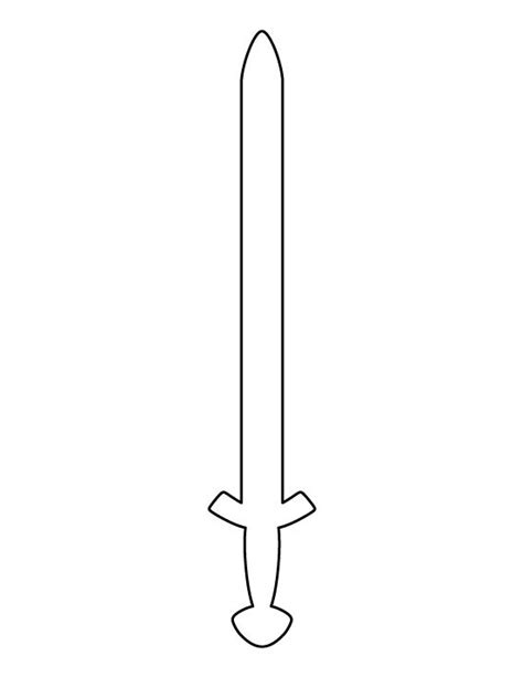 sword template viking sword pattern use the printable outline for crafts creating stencils scrapbooking and