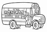 Bus Coloring Pages Printable sketch template