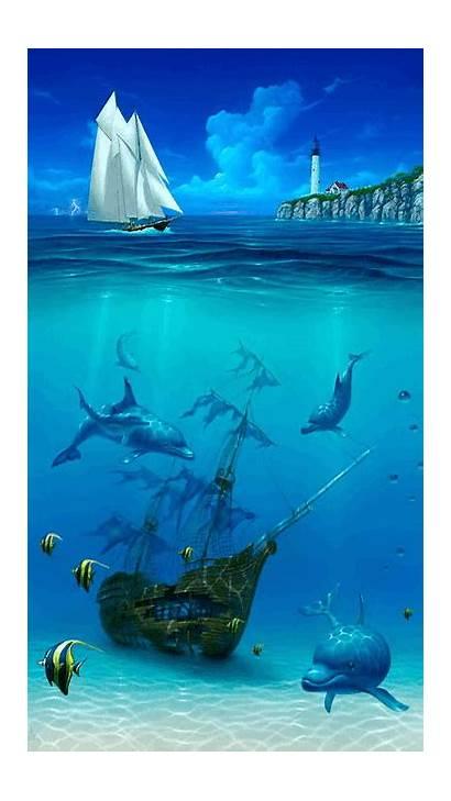 Underwater Paintings Painting Sea Dolphin Miller David