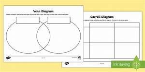 Shapes Carroll And Venn Diagram Worksheets