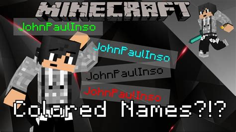 how to change the color of your name in minecraft minecraft how to change the color of your name in 1 12