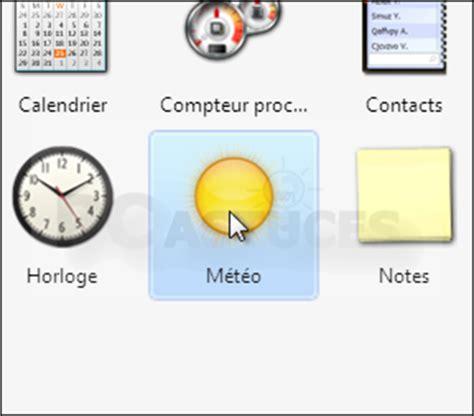 afficher la m騁駮 sur le bureau gadget de bureau meteo 28 images afficher ses gadgets directement sur le bureau