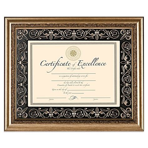deluxe document wood frame  florence
