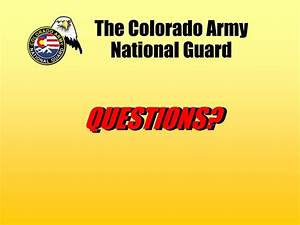 PPT - The Colorado Army National Guard PowerPoint ...