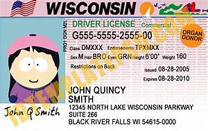 this is wisconsin usa state drivers license psd With wisconsin drivers license template