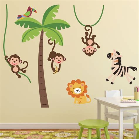 stickers muraux pour chambre stunning stickers chambre bebe jungle contemporary