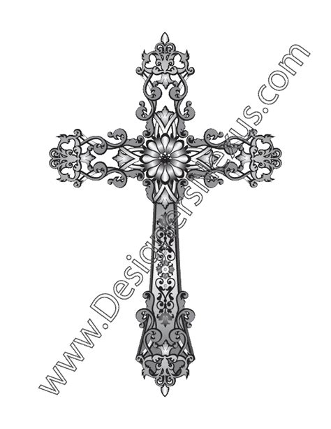 fashion design vector graphic  heraldic cross