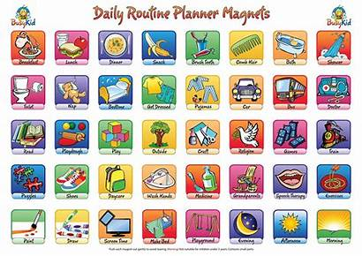 Routine Daily Clipart Planner Chart Chore Toddler