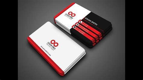 business cards design coreldraw tutorial youtube
