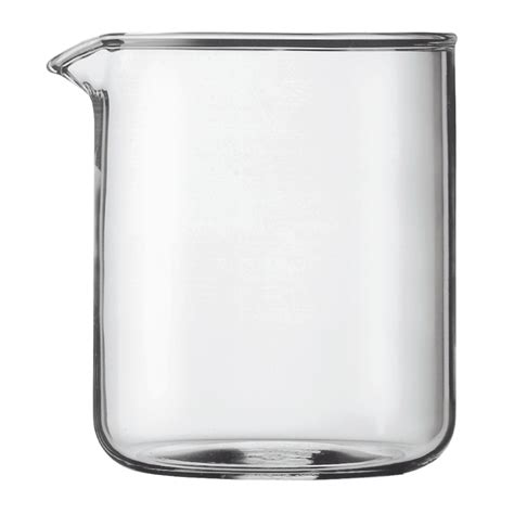 SPARE BEAKER   Spare glass, 4 cup, 0.5 l, 17 oz, dia 9.6 cm, H 12.5 cm Transparent   Bodum