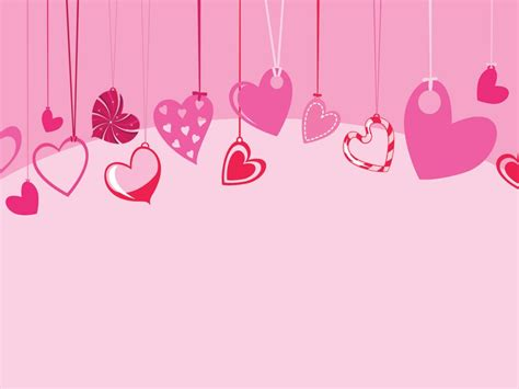 cute hearts  hanging powerpoint templates love