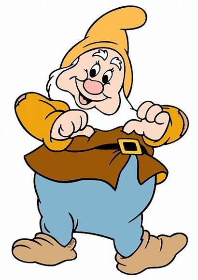 Happy Dwarfs Clip Clipart Seven Disney Snow