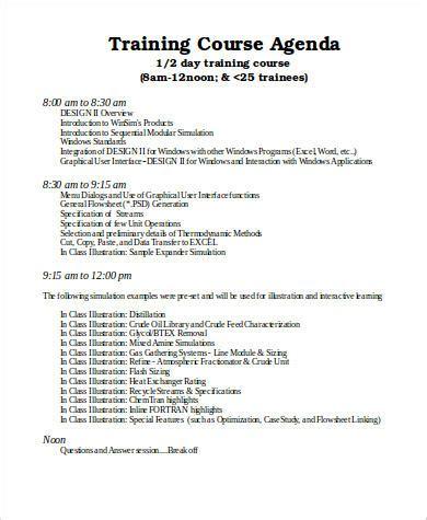 agenda samples  ms word