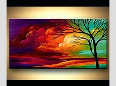 Abstract Trees Paintings Tree Painting Original Landscape
