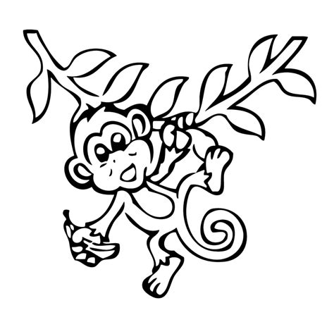 Kleurplaat Dansende Aap apen kleurplaten kleurplatenpagina nl boordevol coole