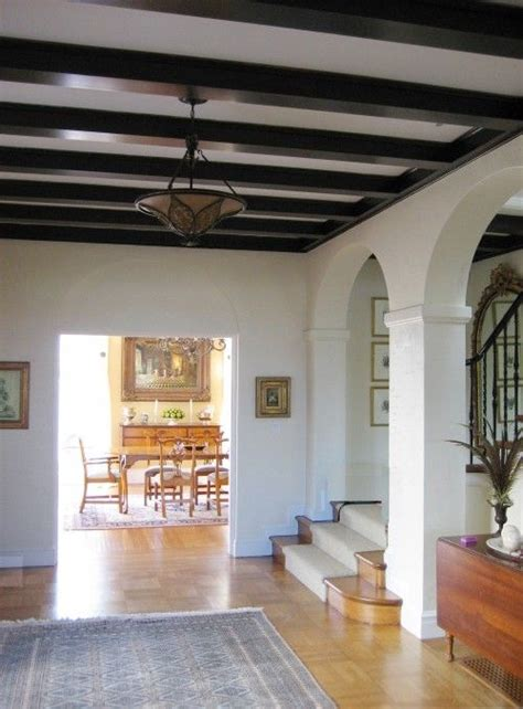 spanish influence ceiling beams painted ceiling beams