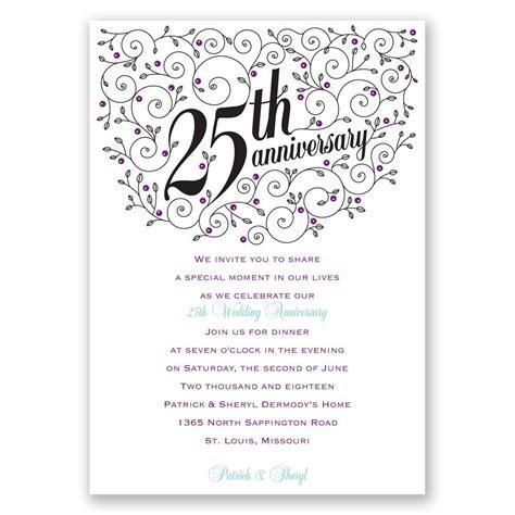 filigree  anniversary invitation invitations