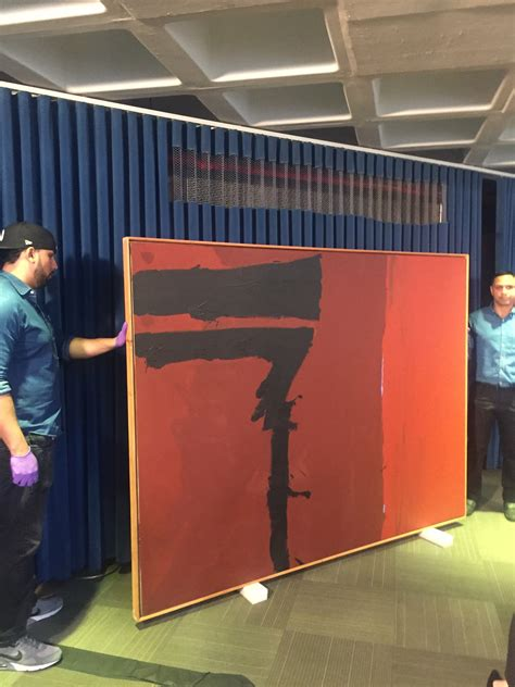 fbi  recovered  crimson robert motherwell painting