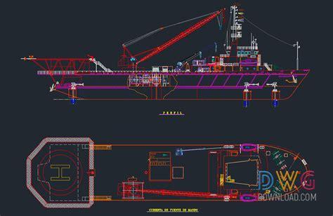 crane boat dwg drawing 187 dwgdownload