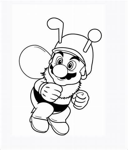 Mario Coloring Pages Template Templates Colouring