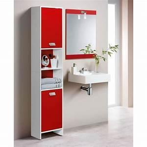 Colonne Pour Salle De Bain : top colonne de salle de bain 39cm blanc et rouge achat ~ Dailycaller-alerts.com Idées de Décoration