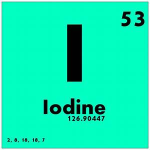 Image Gallery iodine periodic table