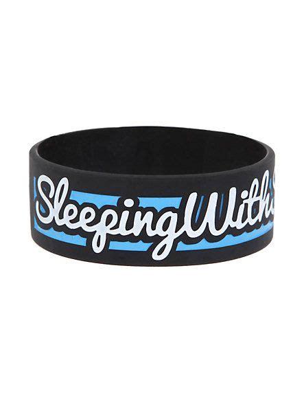 sleeping  sirens  rubber bracelet hot topic
