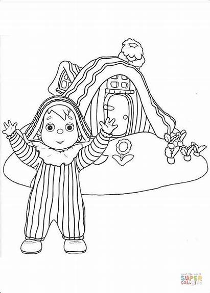 Coloring Pages Pandy Andy Standing Boy Printable