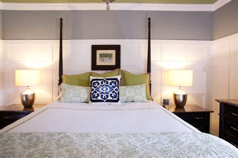 guest bedroom   light trendy colors traditional