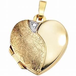 Gardinenringe Zum öffnen : medaillon anh nger herz zum ffnen 333 gold gelbgold teileismatt halsschmuck ~ Sanjose-hotels-ca.com Haus und Dekorationen