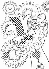 Carnival Coloring Printable Pages sketch template