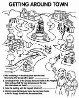 Coloring Town Around Getting Pages Worksheet Sheets Community Worksheets Grocery Print Crayola Places Market Template English Teaching La Sketch Give sketch template