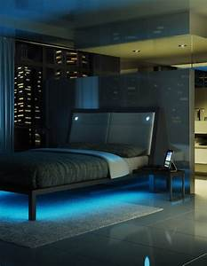Lit Bed Up : amisco furniture bedroom lounge platform bed recessed led lights led strip lights ~ Preciouscoupons.com Idées de Décoration