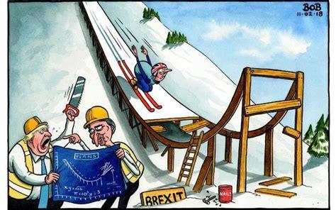 telegraph cartoon brexit jump europe